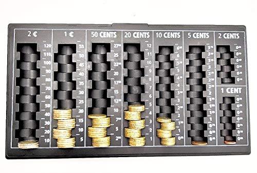 contador de cambio de efectivo organizador de dinero contador de dinero monedas EURO 33cm 18cm 2cm