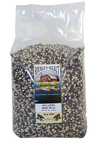Riehle's Select Popping Corn - Hulless Baby Blue Whole Grain Popcorn - 6lb (96oz)