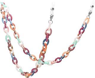 KAI Top Handmade Retro Tortoise Shell Eyeglass Chain, Acetate Chain Link Sunglasses Holder Necklace Eyewear Retainer Lanyard