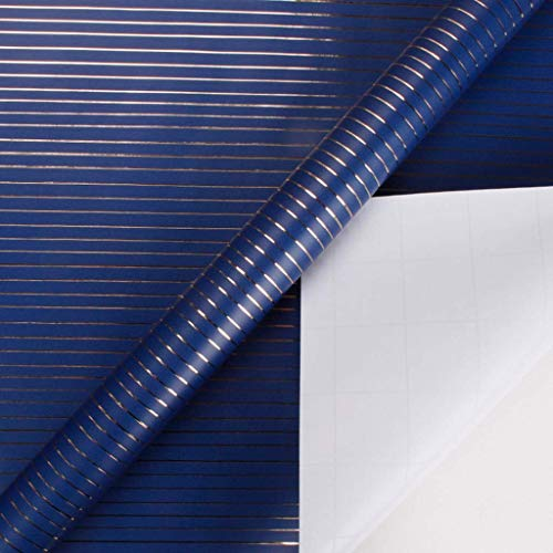 ZXL waterdicht inpakpapier, inpakpapier bedrukt Chinese stijl streep patroon bruiloft uitnodiging dubbelzijdig verpakking papier decor (kleur: D, Grootte: 76 * 305CM)