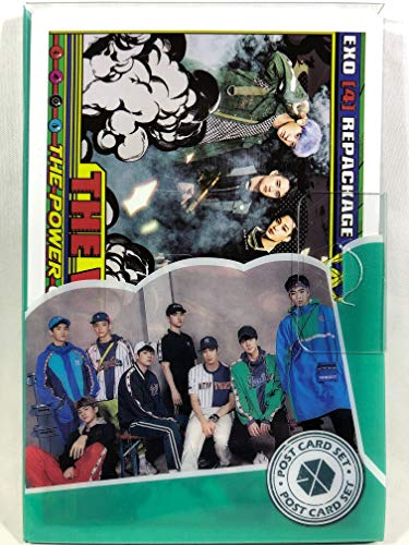 EXO エクソ グッズ / プラケース入り ポストカード 16枚セット - Post Card 16sheets (is included in a Plastic Case) [TradePlace K-POP 韓国製]