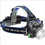 XHHWZB Antorcha de Cabeza LED, Faro Recargable, 1000 Lúmenes Zoomable, Linterna Ajustable a Prueba de Agua para Correr Andar en Bicicleta Acampar IR de Excursión Iluminación Exterior