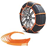 Dveda 10 Pcs Anti Slip Tire Chains Adjustable Snow Car Tire Chains Winter Driving Security Chains for Car SUV Truck