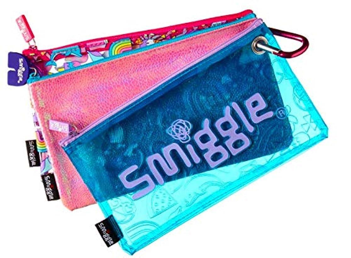 パン狂人まさに【スミグル】Smiggle Paradise トリオ鉛筆ケース ペンケース ブルー