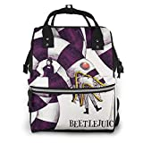 bee-tle-ju-ice Diaper Bag Backpack, Waterproof and Stylish, Multi-Function Waterproof Large Travel Backpack Nappy Bags for Mom,Dad