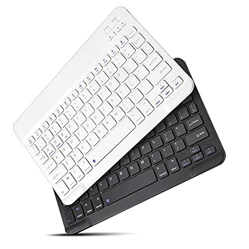 Wireless Bluetooth Keyboard,Mini Light Rechargeable Ultra Slim Keyboard, Comfortable Portable Keyboard, Compatible iPad iOS 7.9/9.7/10.2/10.5/10.9/11/12.9 inch Tablets, Phones, PC, MacBook. (Black)
