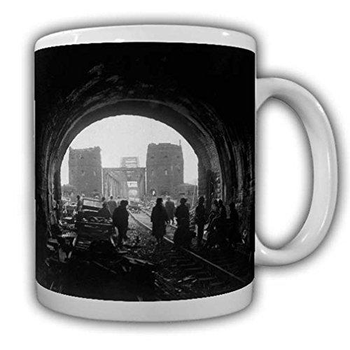 Puente de Remagen, taza de soldados de los Estados Unidos, ejército militar, America #22537