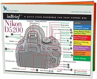 Blue Crane Digital inBrief Laminated Reference Cards for Nikon D5200  (zBC550)