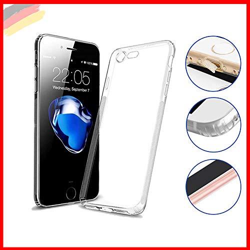 Hetcher Tech Premium Handyhülle kompatibel für Apple iPhone 6/6s - Hülle transparent Silikon - Schutzhülle viele Vorteile! - Cover Case Bumper mit Staubschutz