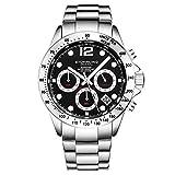 Stührling Original - Montre chronographe pour Homme, Bracelet en Acier Inoxydable avec Couronne vissée et étanche à 100 M....