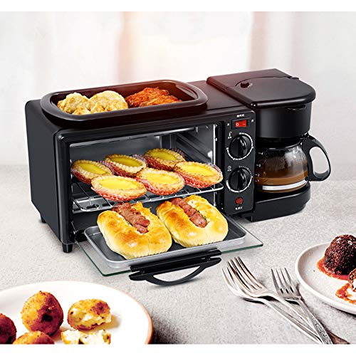 Fantastic Prices! 3-in-1 Multi-Function Family Size Electric Breakfast Station, Breakfast Maker 4-Cu...