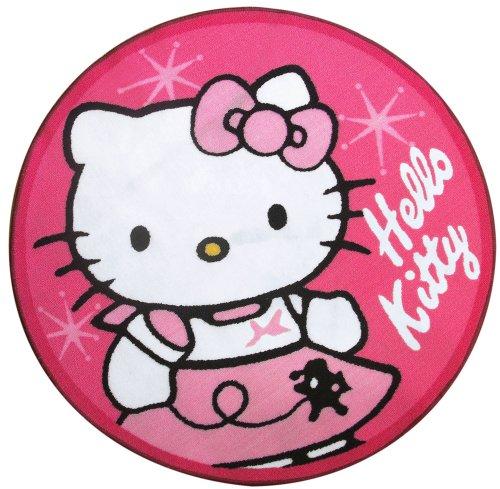 Fun House - 711650 - Ameublement Et Décoration - Tapis Rond - Hello Kitty
