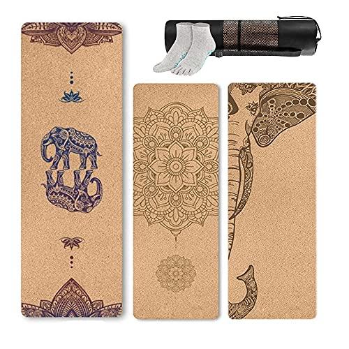 LIUJUAN 5Mm Yoga Mat Unique Design Natural Cork Tpe Yoga Mat Sports Mats Pilates Slim...