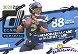 2020 Donruss NFL Football EXCLUSIVE Factory Sealed Retail Box with MEMORABILIA or MAGNET Card & 11 ROOKIES! Look for RC & AUTO of Joe Burrow, Justin Herbert,... rookie card picture