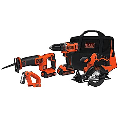 BLACK+DECKER BDCDHP2204KT 20V MAX 1/2  Drill/Driver 4-Tool Combo Kit