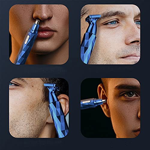 N A Ear Nose Hair Trimmer,Mini Shaver,USB Rechargeable Electric Painless Beard Eyebrow Facial Hair Trimmer with Waterproof Dual Edge Blades for Men Women (??)