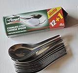 CHINESISCHE Suppenlöffel EDELSTAHL - Löffel Asien - 4