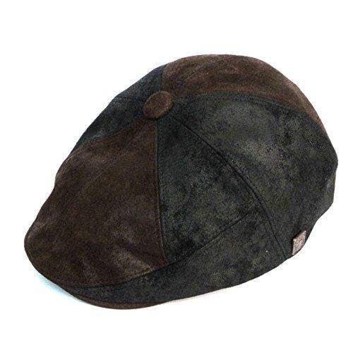 DASMARCA-Collection Hiver-Casquette en Cuir Noir-Hunter-L