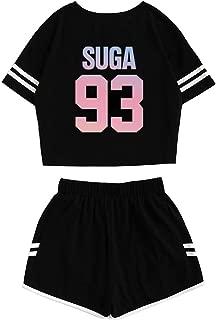 Kpop BTS Album Love Yourself:Tear Sports Hot Pants + Midriff-Baring Shirts Set