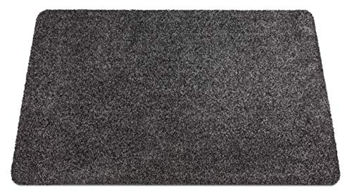 Carpet Diem Extreme Fußmatte aus Mikrofaser waschbar, Extradick und Flauschig, Sauberlaufmatte in Anthrazit 50x80cm