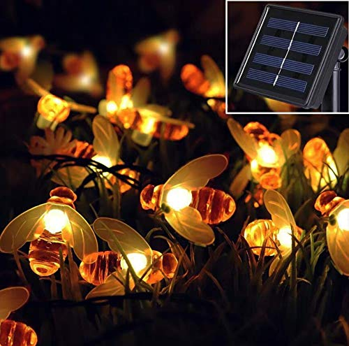 XZHFC Outdoor Solar Power Strings LED Solar Bee String Lights Waterproof Decors Lamp Garden Christmas Holiday Decor 7M 50LED