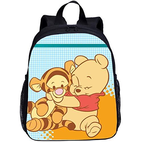 SL-YBB Winnie The Pooh Kindergartentasche, Kinderanimation 13 Zoll, Kinderrucksack, Nylon Langlebig Und Wasserdicht, Jungen, Mädchen (Pooh -7,27 * 14 * 35cm)