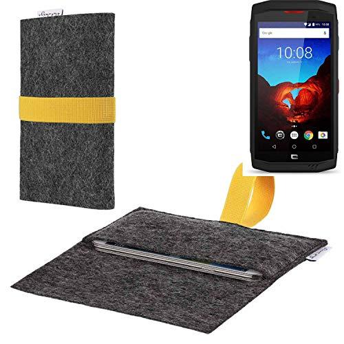 flat.design vegane Handy Hülle Aveiro für Crosscall Trekker X3 passgenaue Filz Tasche Case Sleeve Made in Germany