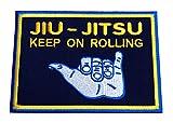 Brazilian Jiu jitsu parche (4Inch) Keep On Rolling Grappling hierro bordado/coser en insignia Applique