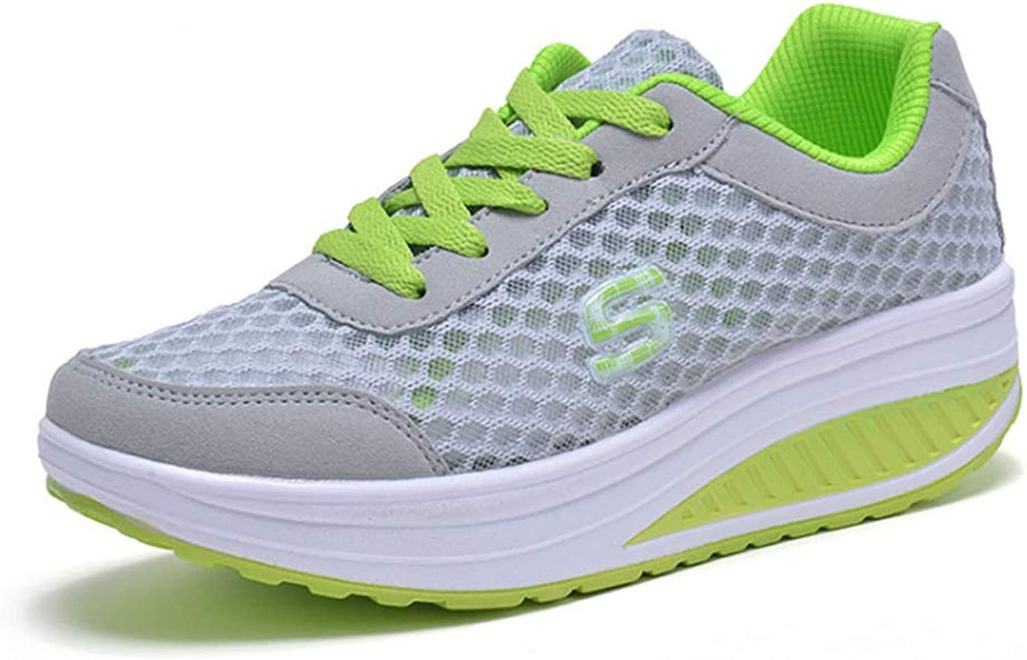 T-JULY Women Fashion Wedge Causl Running shoes Female Mesh Breathable Sneakers