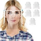 5 Pcs Pantalla Facial Protectora, LETOUR Reutilizable Gafas protectoras de rostro Completo con Protección para ojos y cabeza Resistencia a altas Temperaturas