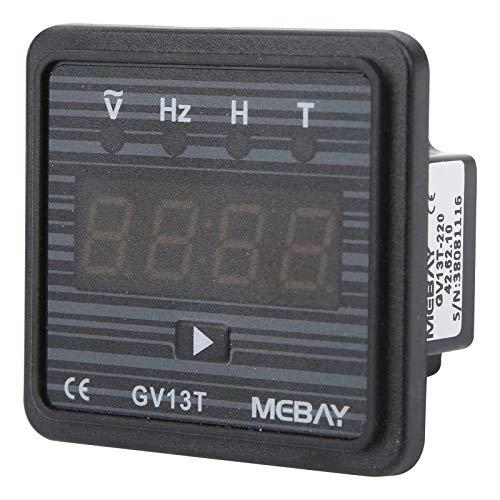 Voltímetro Digital Ca 220 V / 380 V, Medidor de Frecuencia, Medidor de Voltaje de Montaje En Panel de Ca, Temporizador de Generador Para Uso Industrial(Ac 220V)