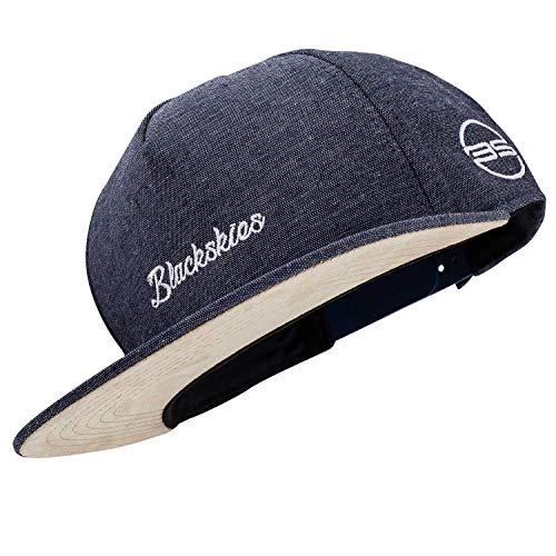 Blackskies EOS Vol. III Snapback Cap | Jeans Dunkelblau Schirm Unisex Premium Baseball Mütze Kappe Denim Basecap Stick