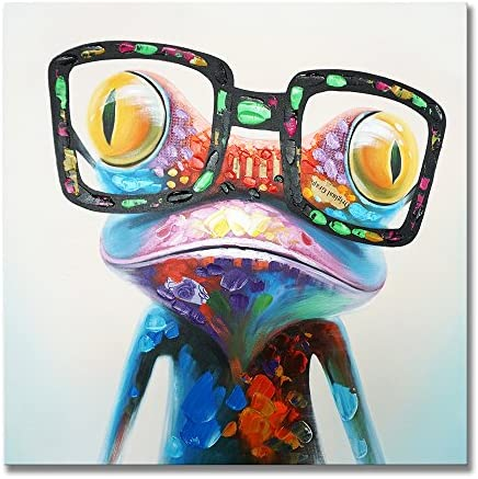 Frog with glasses painting