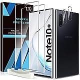 LK 3 Stück Schutzfolie Kompatibel mit Samsung Galaxy Note 10 Plus, Note 10 Plus Folie, Fingerabdruck-ID unterstützen Blasenfreie Klar HD Weich TPU Bildschirmschutzfolie