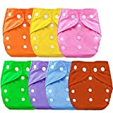 Bembika B Plus Solid Cloth Diapers for Babies, Washable Reusable, Adjustable Sizes