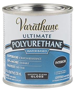 Varathane 200061H Water-Based Ultimate Polyurethane Half Pint Gloss Finish 8 Fl Oz