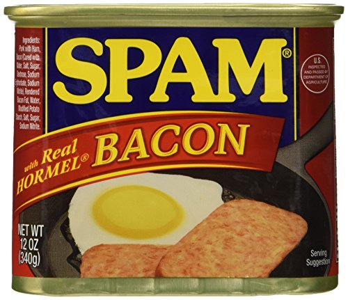 Spam Canned and Packaged Meats WITH BACON 12 Ounce