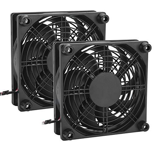 Ventilador de caja de computadora de 2 piezas, ventiladores de PC para enrutadores Ventilador de enfriamiento silencioso ultra silencioso Ventiladores de caja de ventilador de enfriamiento de PC USB d