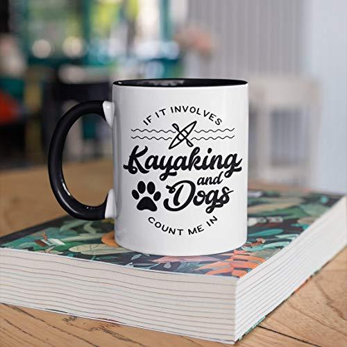 Funny Kayaking And Dogs Coffee Mug