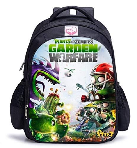 AAGG Mochila de 16 Pulgadas Plants Vs Zombie School Backpack Hot Game School Mochila para niñas niños Libro Bolsa Hombro Mochilas 1 Pieza Mochila 22