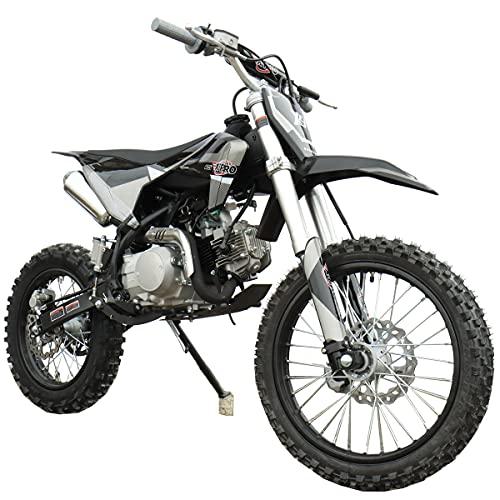 "X-PRO 125cc Dirt Bike Pit Bike Adults Dirt Pit Bike 125 Dirt Bike Dirt Pitbike,Big 17""/14"" Tires! Cradle Type Steel Tube Frame! (Black)"