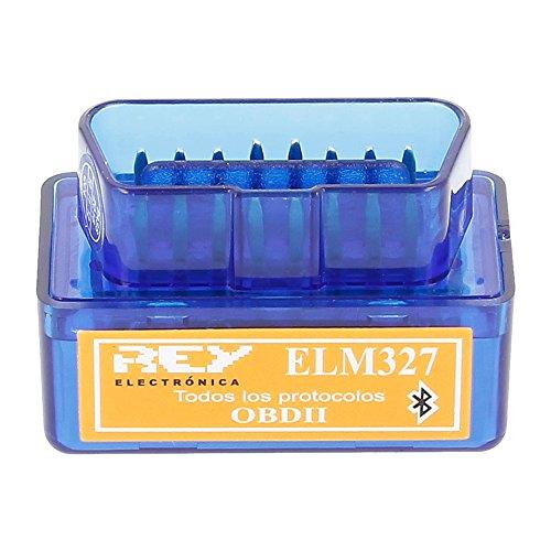 REY Mini ELM327 Interfaz V2.1 Bluetooth OBD-II OBD2, Máquina de Diagnosis para el Coche