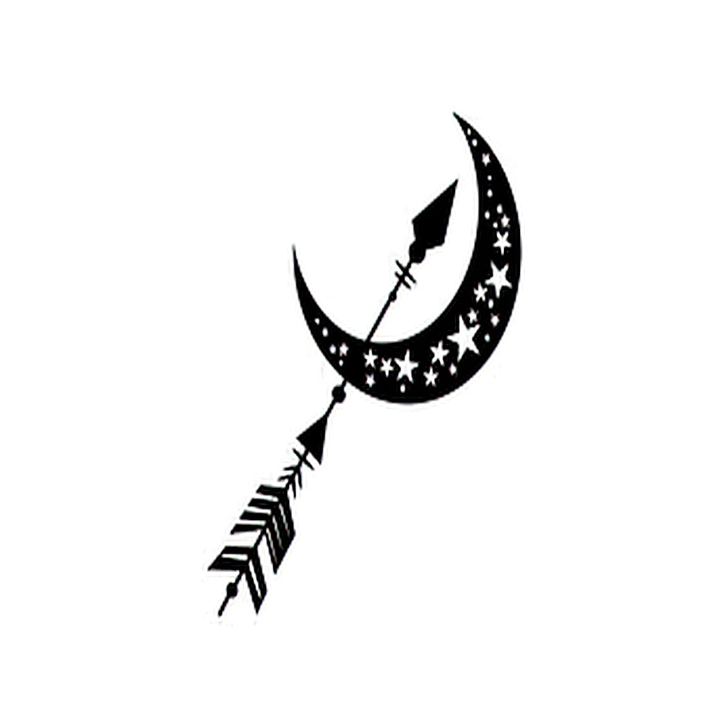 Ranking TOP11 Moon Six Sheets Temporary Tattoos Adults Raleigh Mall for Women and Star