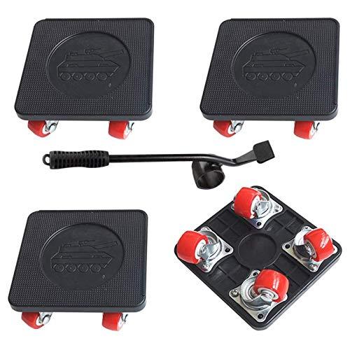 GTEFWZ 4 PCS Moviendo Dolly Heavy Duty con Rueda Universal, para el Control Deslizante móvil del Aparato de Muebles, Capacidad de Carga de 350 Libras