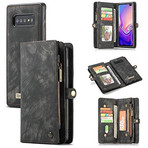 XSJK Samsung Galaxy Note10 Note10+ S10 S10Plus S10E Note9 S9Plus S9 Note8 S8Plus S8 S7edge S7 Funda Folio Monedero Case Cartera Multifuncional Estuche móvil,A,SamsungS10