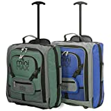 MiniMAX Childrens/Kids Luggage Carry On Trolley Suitcase with Backpack and Pouch for Your