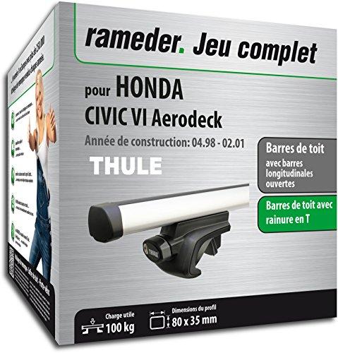 Rameder Pack, Barres de Toit ProBar Compatible avec Honda Civic VI Aerodeck (115511-03562-37-FR)