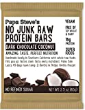 Papa Steves, Bars No Junk Protein Chocolate Coconut Crunch, 2.5 Ounce