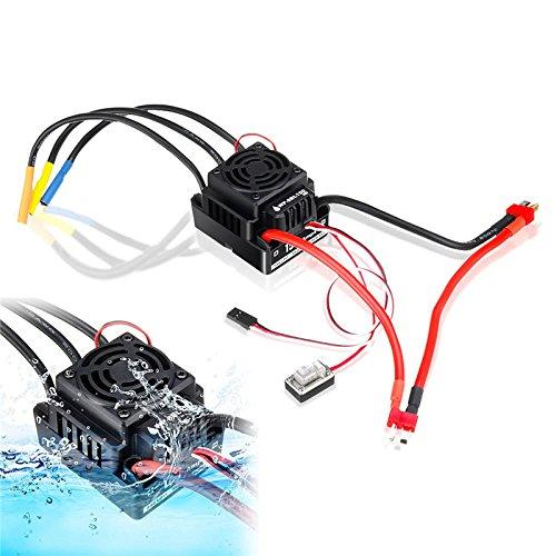 Wchaoen HobbyWing QuicRun WP-8BL150 Schwarz 1/8 Brushless WaterProof 150A ESC for RC Autoteile Werkzeugzubehör