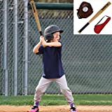 Kids Baseball Glove and Ball Set | 10.5' Tee Ball Gloves Leather Baseball Softball Mitt Outdoor Games Fun Sport Toys for Adult and Youth (from US, Multicolour)